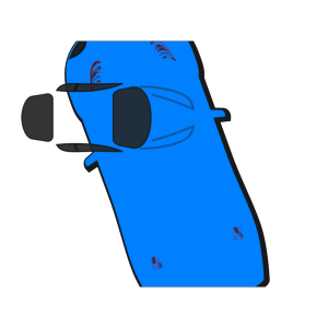 Blue Car - Top View - 110 icon png