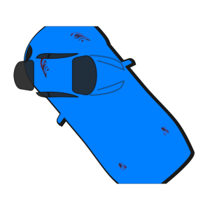 Blue Car - Top View - 130 icon png