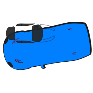 Blue Car - Top View - 190 icon png