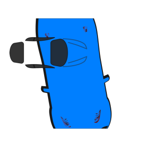 Blue Car - Top View - 280 icon png