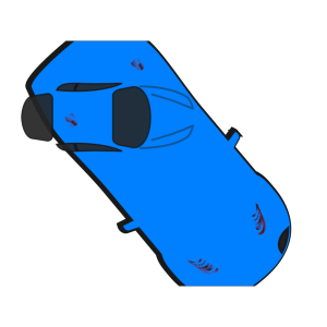 Blue Car - Top View - 310 icon png