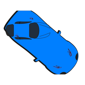 Blue Car - Top View - 320 icon png