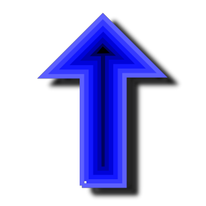 Blue Arrow icon png
