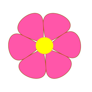 Outline Floral Decoration icon png