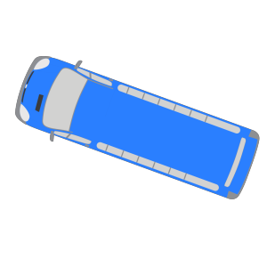 Blue Bus - 160 icon png