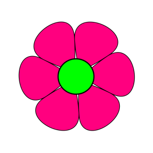 Blue Pink Flower Power icon png