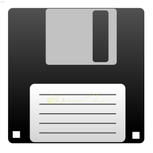 Blue Floppy Disk icon png