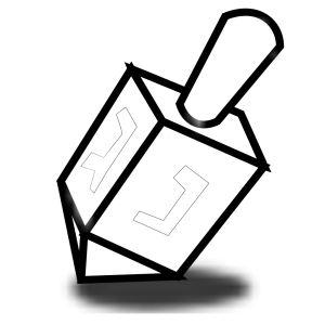 Blue Dreidel Shape icon png