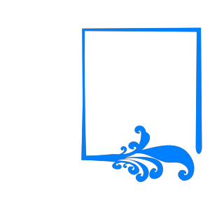 Blue Artistic Frame icon png