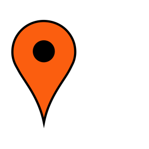 Orange Pin icon png