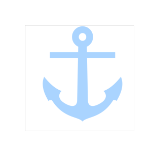 Light Blue Anchor icon png