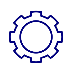 Blue Gear Cog icon png