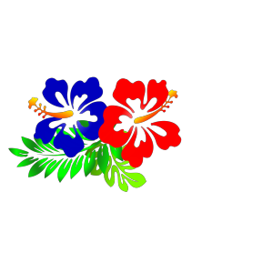 Blue Hibiscus icon png