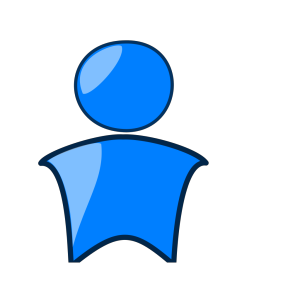 Blue Head Icon icon png