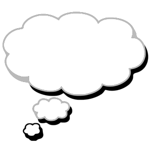 Thought Cloud Blue Th icon png