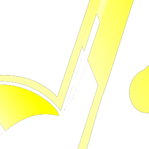 Blue Yellow Music Note icon png