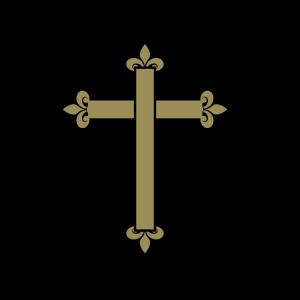 Fleur De Lis Cross - Pale Blue icon png