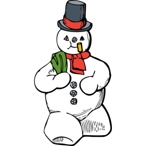 Blue Snowman icon png