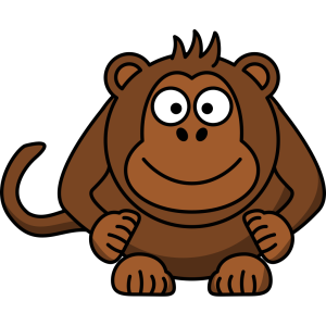 Cartoon Monkey icon png