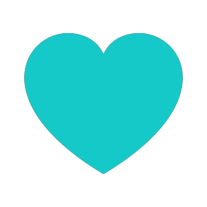Teal Heart icon png