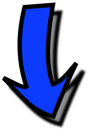 Button Arrow Down Blue icon png