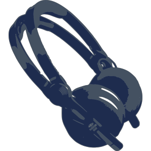 Blue Headphones icon png
