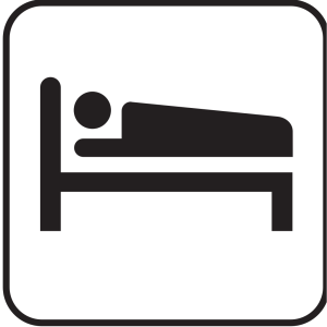Hotel Motel Sleeping Accomodation Clip Art - Red/white icon png