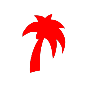Blue Palm Tree icon png