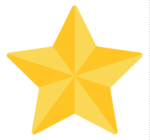 3D Gold Star Transparent Background icon png