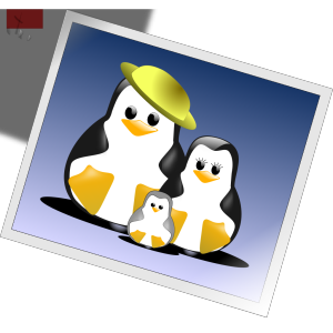 Happy Penguins Family Photo icon png