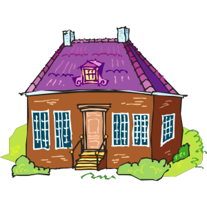 Large Brown Brick House icon png