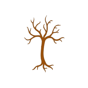 Brown Tree Outline icon png