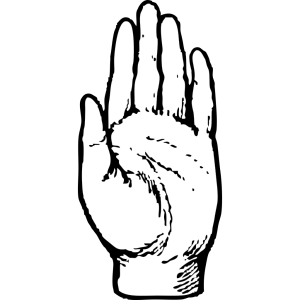 Left Hand Print icon png
