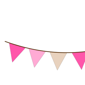 Pink Brown Bunting icon png