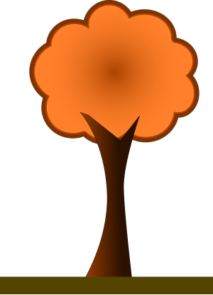 Large 4 Layer Orange Fir Tree icon png