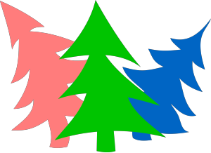 3 Layer Fir Tree icon png
