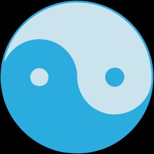 Blue Yin Yang icon png