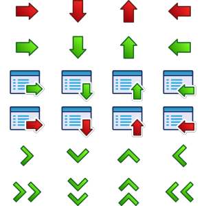 Kuba Arrow Icons Set icon png