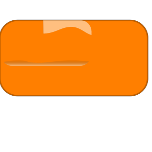 Orange Button icon png