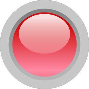 Orange Round Button 1 icon png