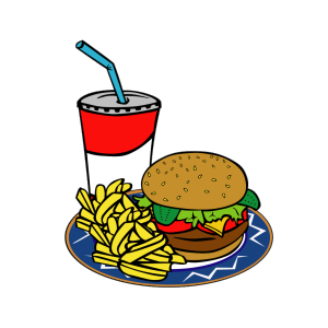 Fries Burger Soda Fast Food icon png