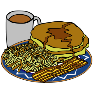 Pancake And Syrup Coffee Bacon Hashbrown icon png