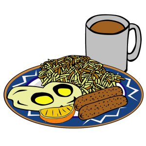 Eggs Sausage Drink Coffee icon png