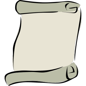 Parchment Paper Portrait Symbol icon png