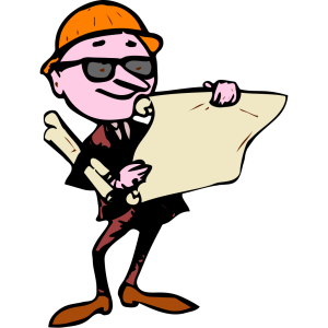 Engineer Cartoon Plans Site icon png