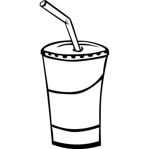 Soft Drink In A Cup (b And W) icon png