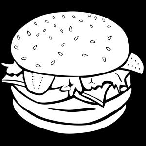 Hamburger (b And W) icon png