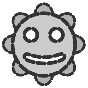 Smiley Sun Invisible icon png