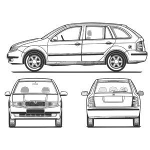 Fabia Car Back View icon png