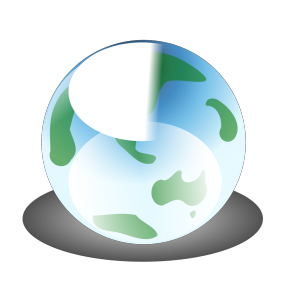 Recylcle Blue Crystal Earth Globe icon png